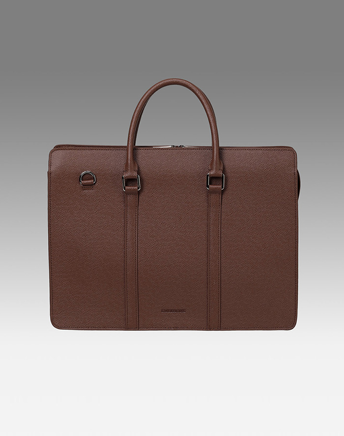 엠비지오네 COSMO TOTE(DARK BROWN)